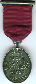 TH271 Royal Masonic Institution for Girls 1880 Stewards jewel.-0
