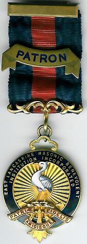 TH329P 1910 Patron. East Lancashire Masonic Benevolent Institution Patrons jewel-0
