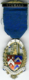 TH341 The Provincial Grand Lodge of Monmouthshire silver Stewards Jewel-0