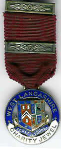 TH342 1925 West Lancashire Charity Jewel.-0