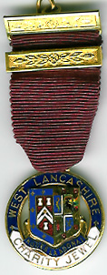 TH342a1925 West Lancashire Charity Jewel Fattorini.-0