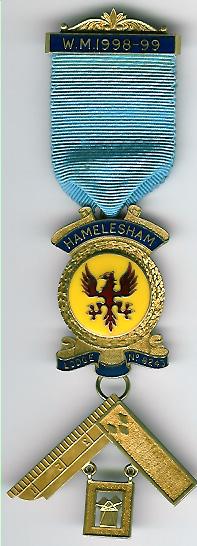 TH455-8243 Hamelesham Lodge No. 8243 Past Masters jewel silver-0