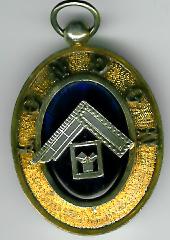 TH584a Very Early London Grand Rank collar jewel 1910 silver-0