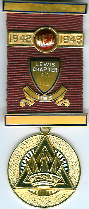 TH660-1185 PZ Jewel Lewis for Chapter No. 1185. 9ct. gold. -0