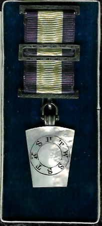 TH711a Victorian Mark Members Jewel with three finely engraved bars-0