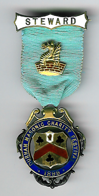 TH320 1899 Durham Masonic Charity Festival Steward's jewel.-0