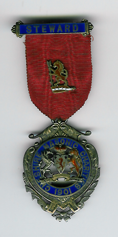 TH324 The 1901 Cheshire Masonic Charities Steward's jewel.-0