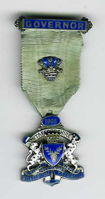 TH326VAR The Governor's jewel for the 1903 Staffordshire Masonic Charity Festival.-0
