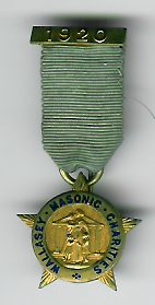 TH334a The 1920 Wallasay Masonic Charities jewel for the Royal Masonic Benevolent Institution -0