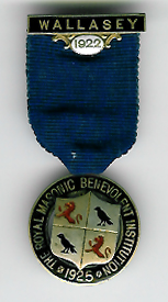 TH334c The 1922 Wallasey Charity Jewel for the Royal Masonic Benevolent Institution -0