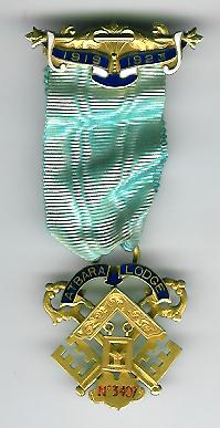 TH570-3407 Gold Treasurers jewel for Atbara Lodge No.3407. -0