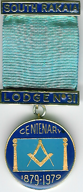 New Zealand Centenary Jewel for South Rakaia Lodge No. 31.-0