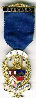 TH341b The Provincial Grand Lodge of Monmouthshire Steward's Jewel no rivets.-0