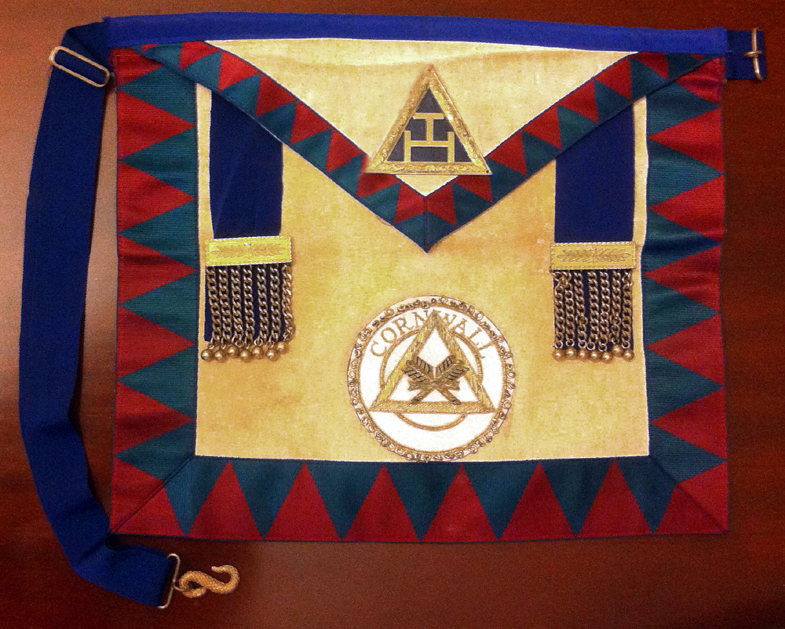 Royal Arch Provincial Treasurer Grand Chapter of Cornwall Lambskin Apron-0