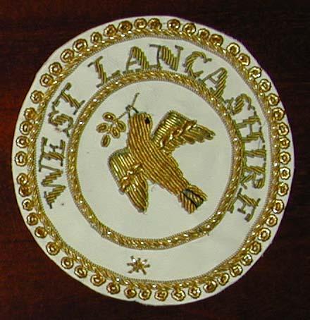 West Lancashire Provincial Grand Rank Dress Apron Badge-0