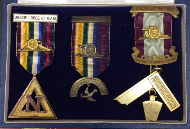 Ubique Mark and RAM Lodge/Chapter jewels Lt. Col. A.S.Tyndale-Biscoe-0