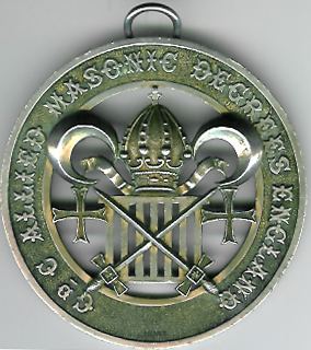 Allied Masonic Degree Grand Council silver collar jewel circa 1880-0