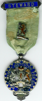 TH276 Royal Masonic Institution for Boys 1895 Stewards jewel.-0