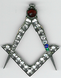 TH27b Georgian special medium silver and brilliants Past Master's jewel.-0