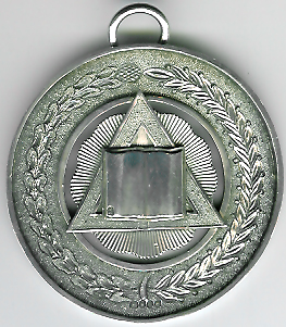 TH53 Chaplains jewel early Victorian silver c1850.-0