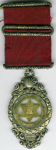 TH607 A 1836 King William IV two-sided watchcase Royal Arch Chapter jewel Possibly unique.-0