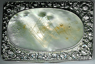 Georgian Hallmarked 1792 silver and mother of pearl masonic snuff-box.-0