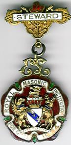 TH271 Royal Masonic Institution for Girls 1934 Stewards jewel.-0