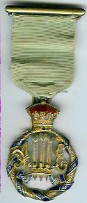 TH276 Royal Masonic Institution for Boys 1898 Stewards badge-0