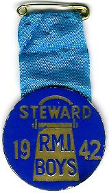 TH277 Royal Masonic Institution for Boys 1942 cardboard stewards jewel-0