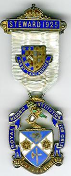 TH271 Royal Masonic Institution for Girls 1925 Stewards Jewel-0