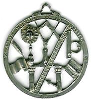 TH11 The 1762 Georgian circular pierced silver Symbolic jewel.-0