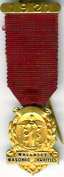 TH334b The 1921 Wallasay Masonic Charities jewel for the Royal Masonic Benevolent Institution -0