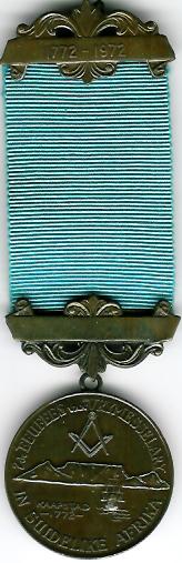 TH249 1772-1972 The Bi-Centenary of British Freemasonry in Southern Africa.-0