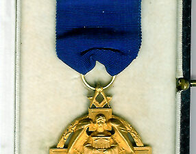 TH231c The Masonic Million Fund (Hallstone design) jewel in 9ct Hallmarked gold.-0