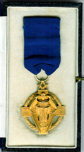 TH231c The Masonic Million Fund (Hallstone design) jewel in 9ct Hallmarked gold.-0