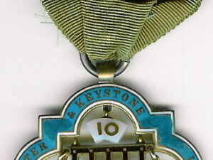 TH504-010 Westminster and Keystone Lodge No. 10 Pre-Regulation Centenary jewel.-0