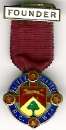 Oliver Rose Croix Chapter No. 311 Miniature Founders Jewel.-0