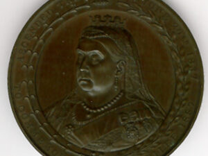 TH140 The 50th Anniversary of Queen Victoria's Accession extra large medal.-0