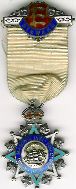 TH271 Royal Masonic Institution for Girls 1905 Stewards jewel. -0