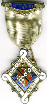 TH271 Royal Masonic Institution for Girls 1920 Stewards jewel-0