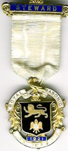 TH271 Royal Masonic Institution for Girls 1921 Stewards jewel.-0