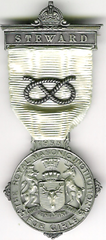 TH271 Royal Masonic Institution for Girls 1933 Stewards jewel.-0