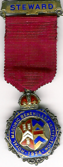 TH281 Royal Masonic Benevolent Institution 1924 Stewards jewel.-0