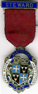 TH281 Royal Masonic Benevolent Institution 1926 Stewards jewel.-0