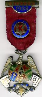 TH281 Royal Masonic Benevolent Institution 1928 Stewards jewel.-0
