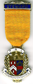 TH341c The Provincial Grand Lodge of Monmouthshire modern Stewards Jewel.-0