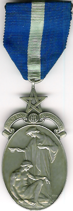 TH346-4094 The Royal Masonic Hospital 1930 silver charity jewel.-0