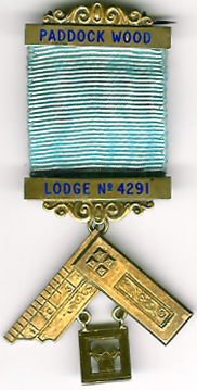 TH455-4291 Past Masters Jewel for Paddock Wood Lodge No. 4291-0
