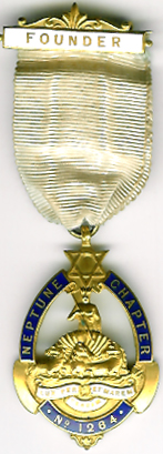 TH662-1264 Founders jewel for Neptune Chapter No. 1264.-0