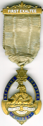 TH663-1264 1st Initiate's medal Neptune Chapter No. 1264-0